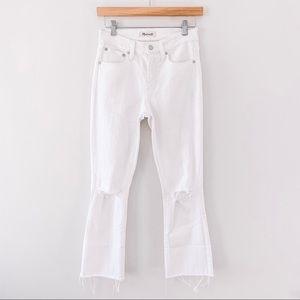 MADEWELL | White Cali Demi Boot Crop Jeans Sz 25